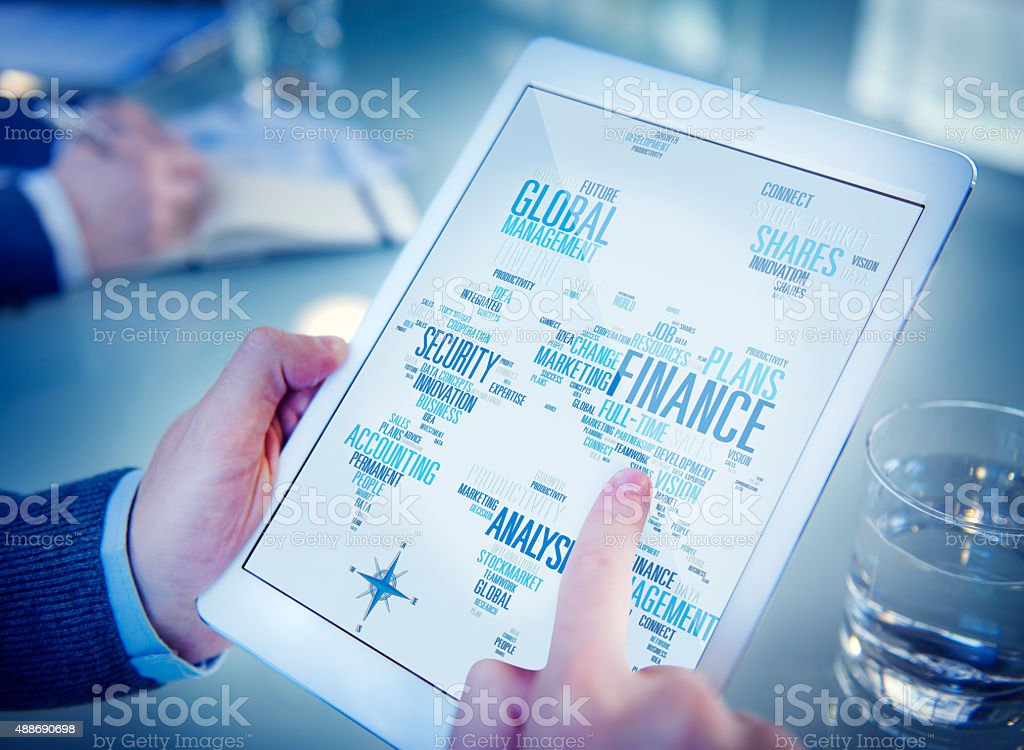 Global Finance Business Financial Marketing Money Concept stock photo