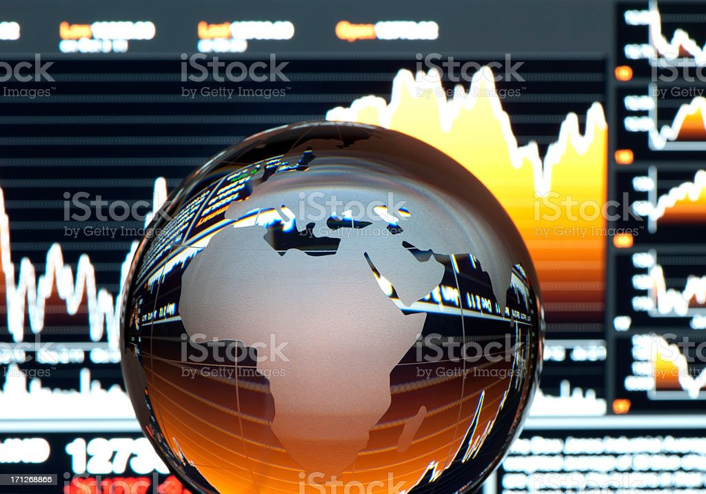 Global finance concept. Europe stock photo