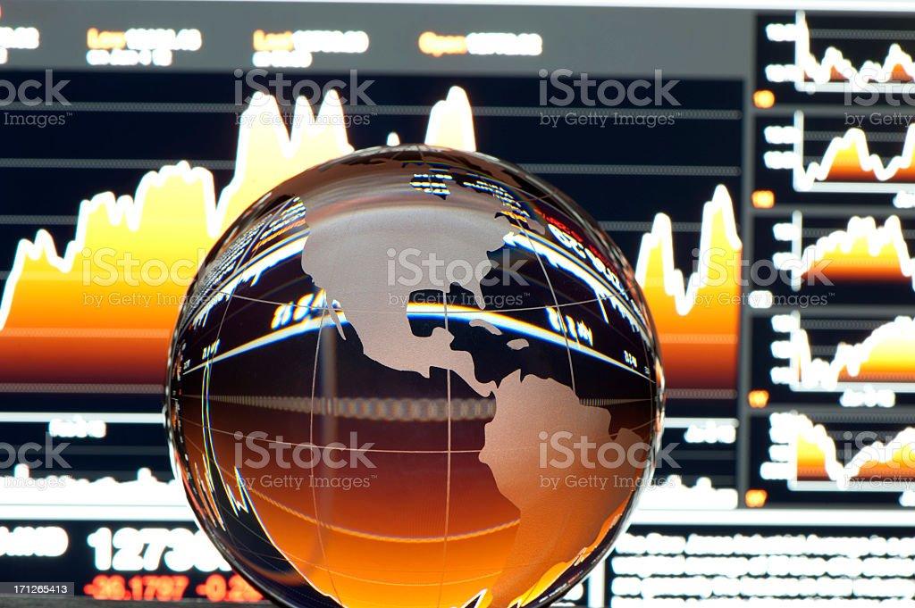 Global finance concept. USA stock photo