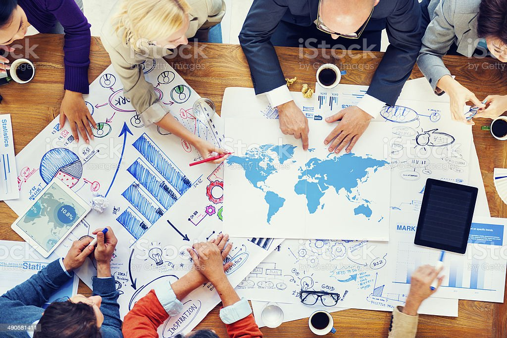 Global Financial Business Meeting and Planning stock photo