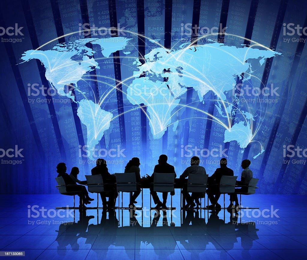 Global financial diagrams stock photo