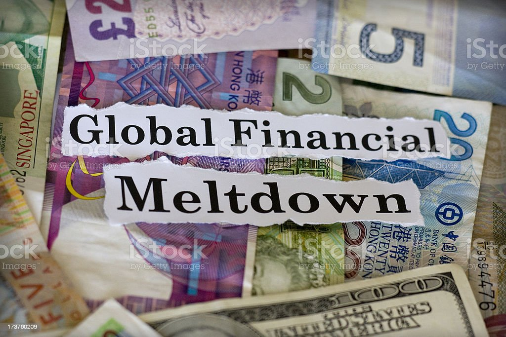global financial meltdown stock photo