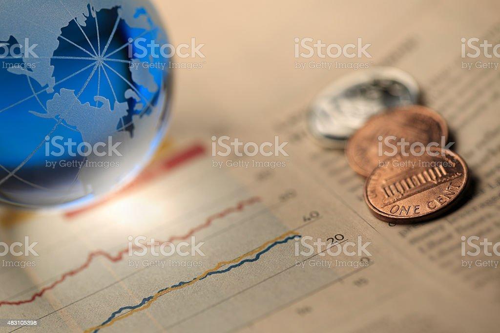 Global Financial stock photo