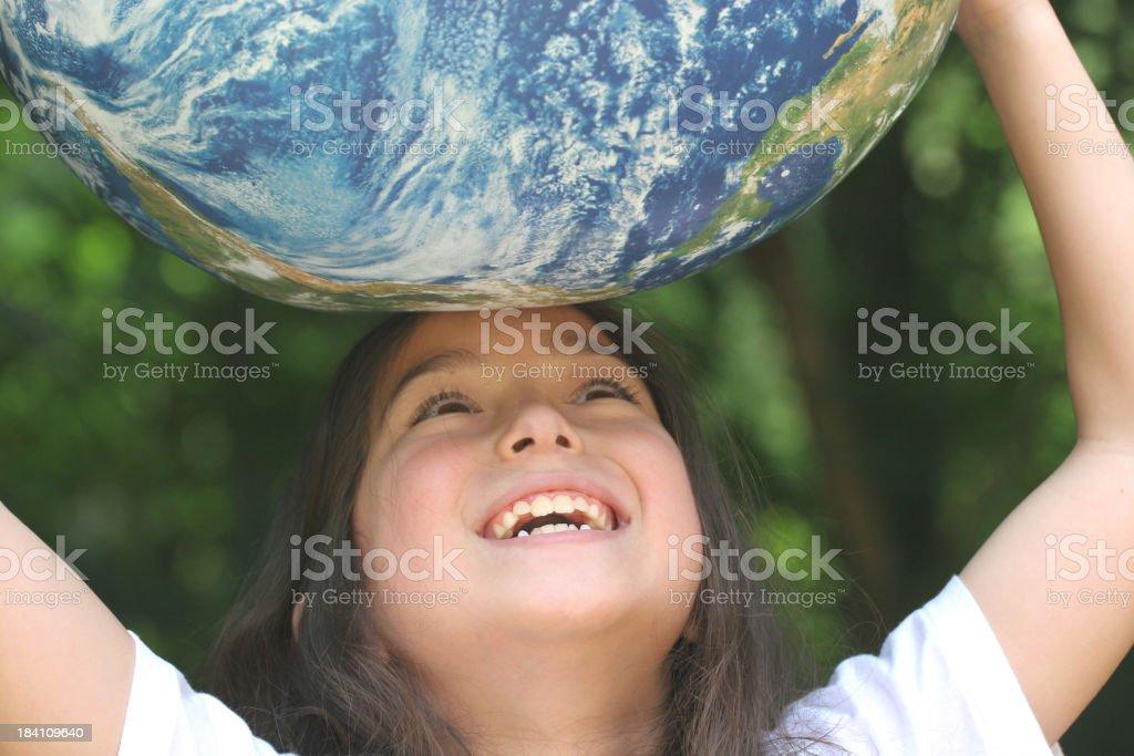 Global Girl stock photo