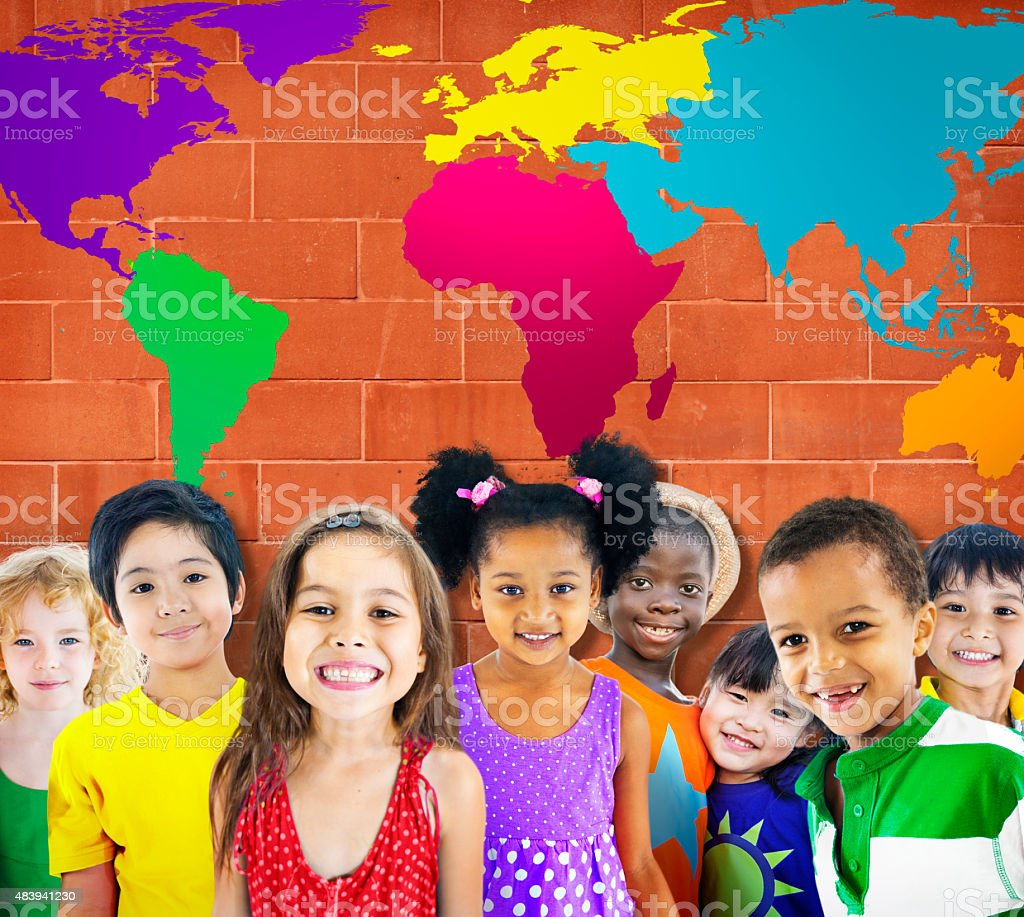 Global Globalization World Map Environmental Concservation Conce stock photo