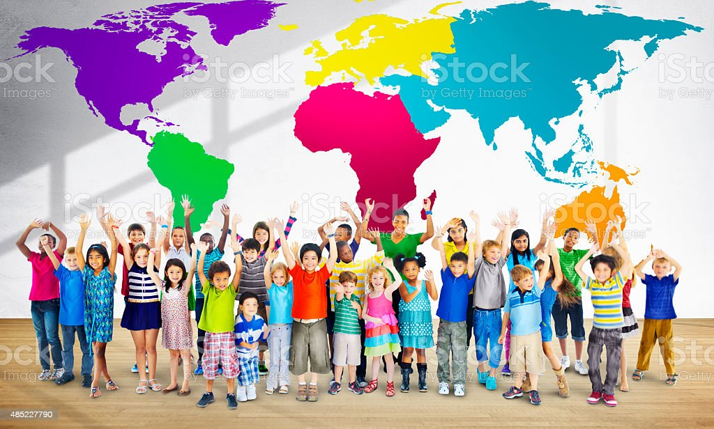 Global Globalization World Map Environmental Conservation Conce stock photo