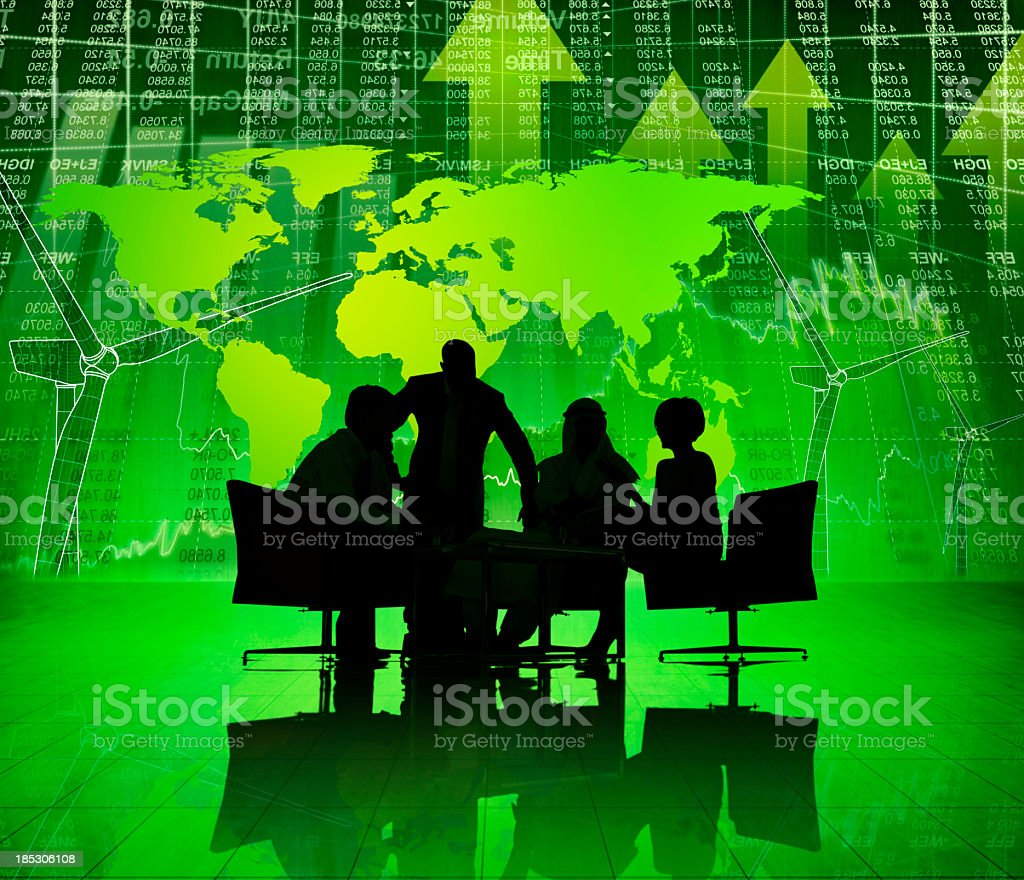 Global Green Business Meeting. stock photo