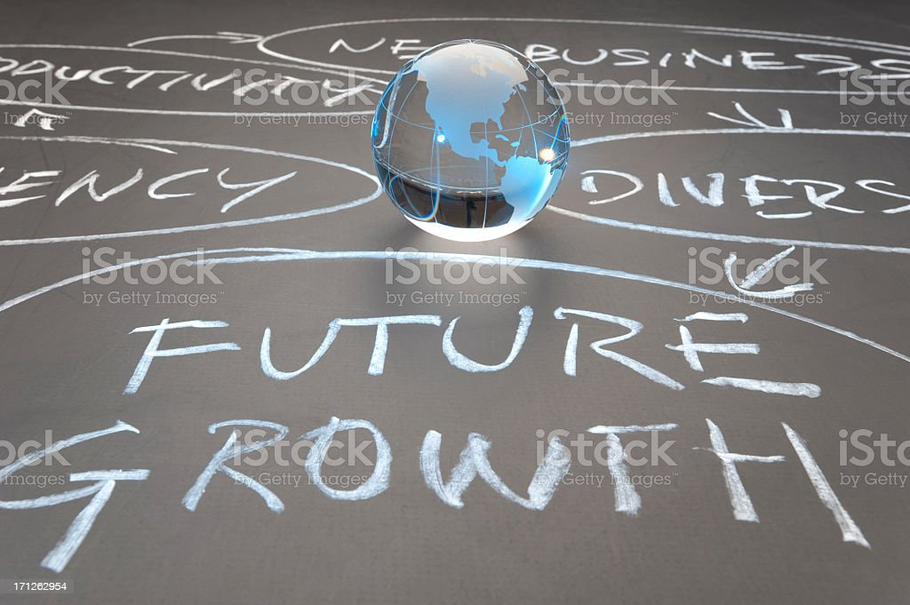 Global growth flowchart concept royalty-free stock photo