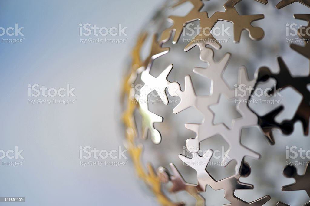 Global Happiness  Christmas Ornament stock photo