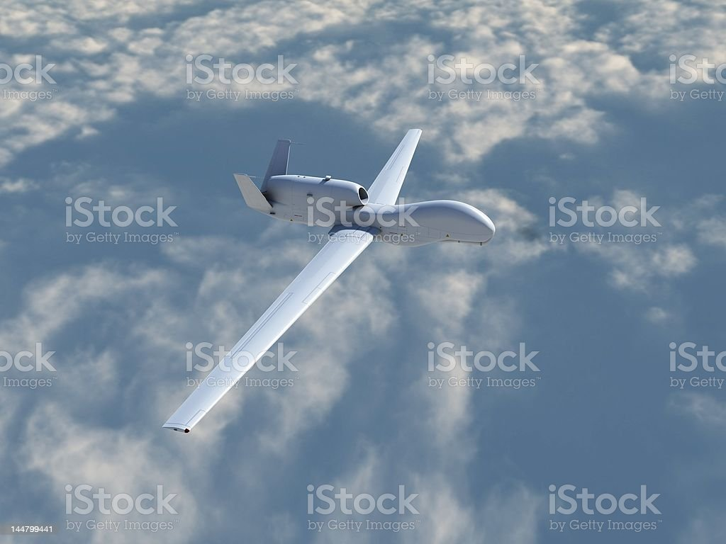 RQ-4A Global Hawk in Flight stock photo