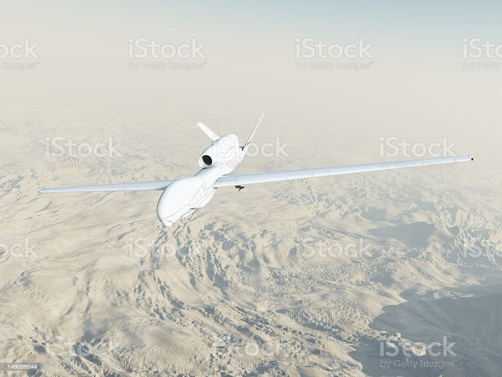 RQ-4A Global Hawk in Flight royalty-free stock photo