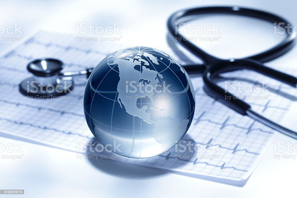 Global healthcare/ North and South America stock photo
