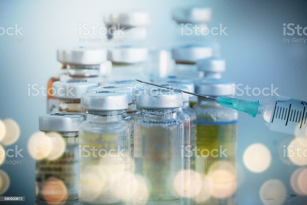 Global healthcare. Vaccine stock photo