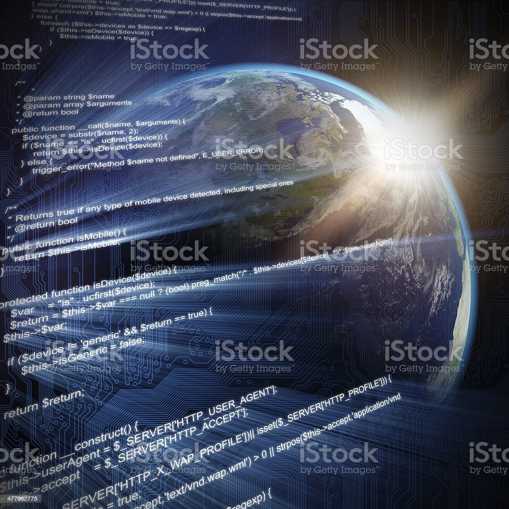Global internet concept royalty-free stock photo