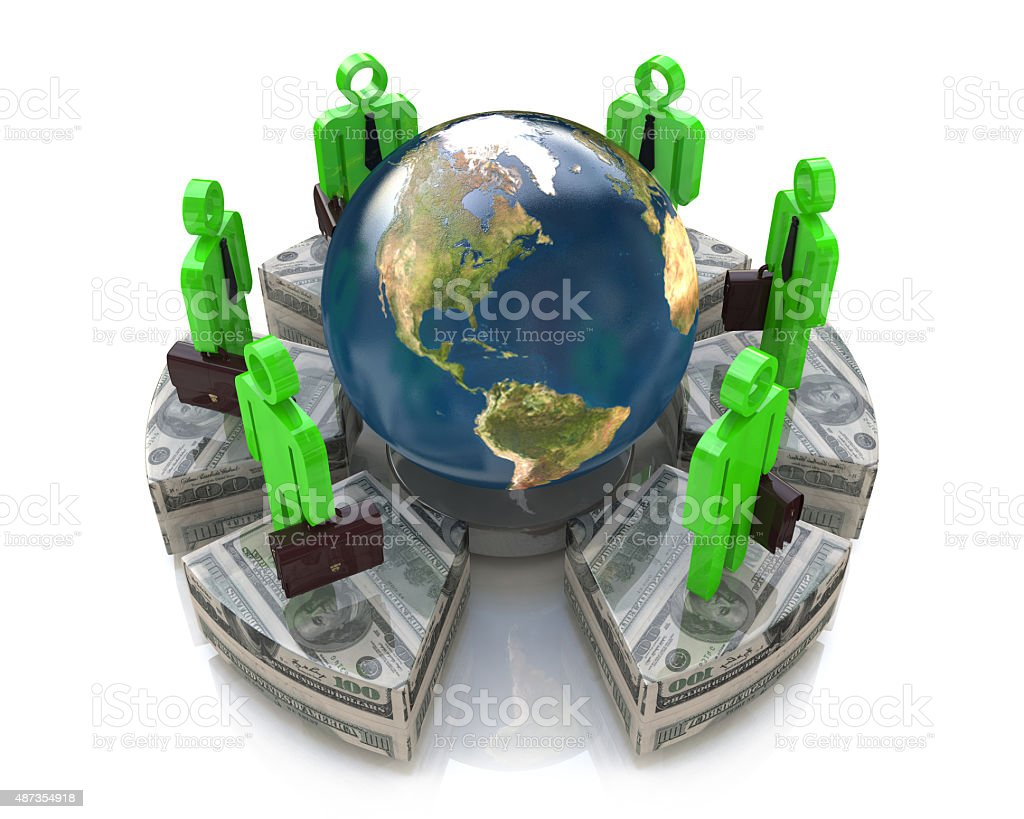 Global investment concept stock photo