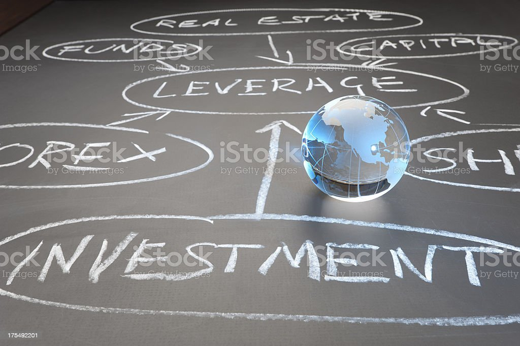 Global investment flow chart concept royalty-free stock photo