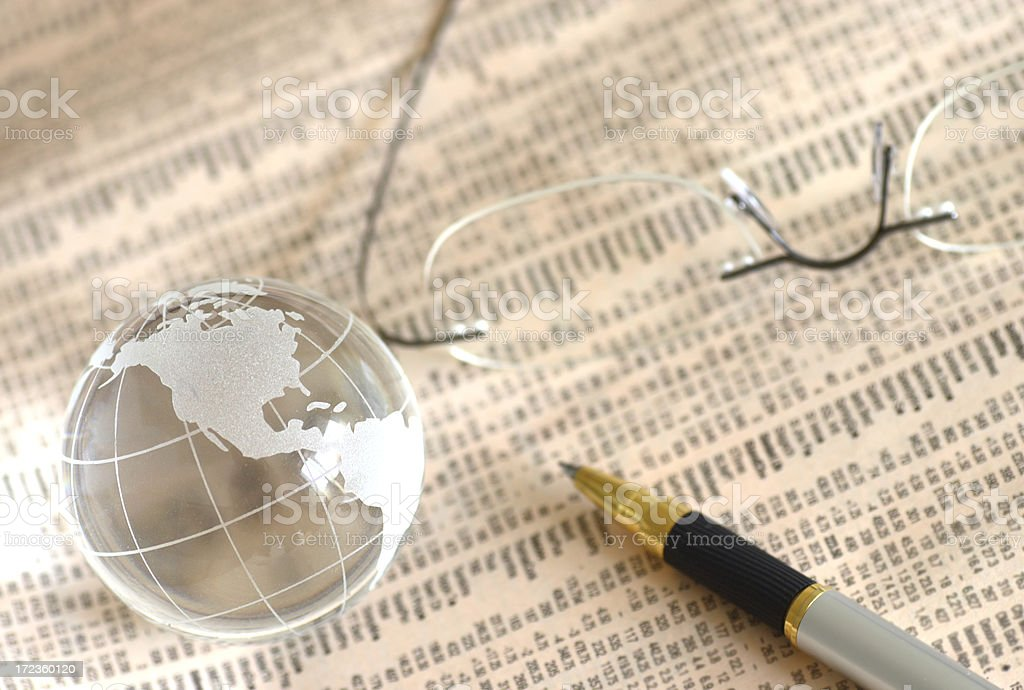 Global investment plans royalty-free stock photo