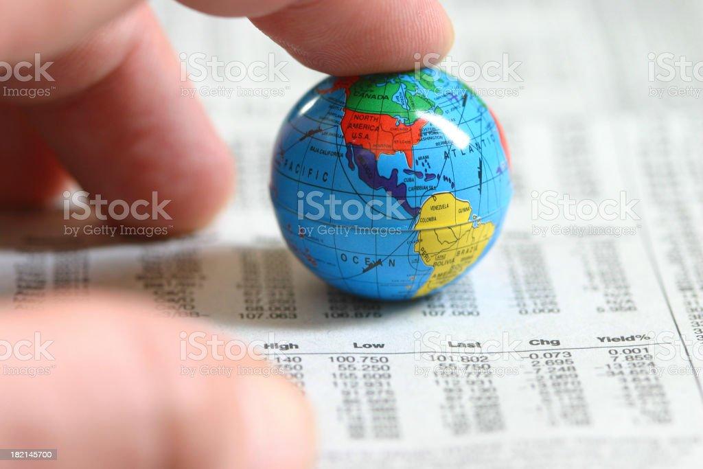 Global investor royalty-free stock photo