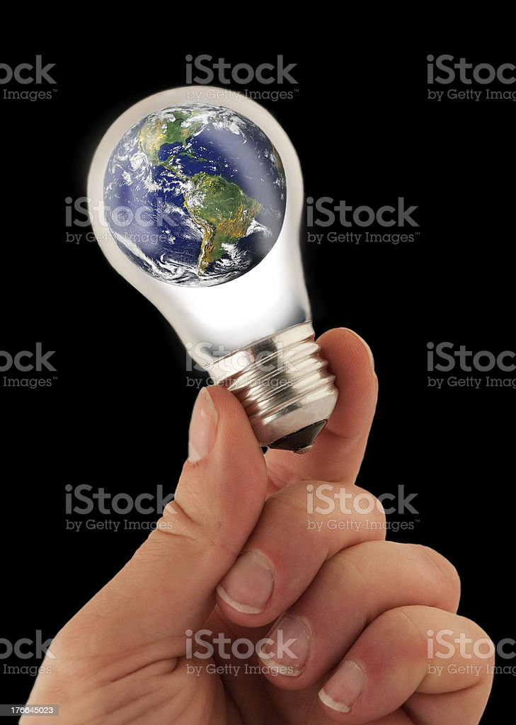 Global Issues for Planet Earth - Isolated on black royalty-free stock photo