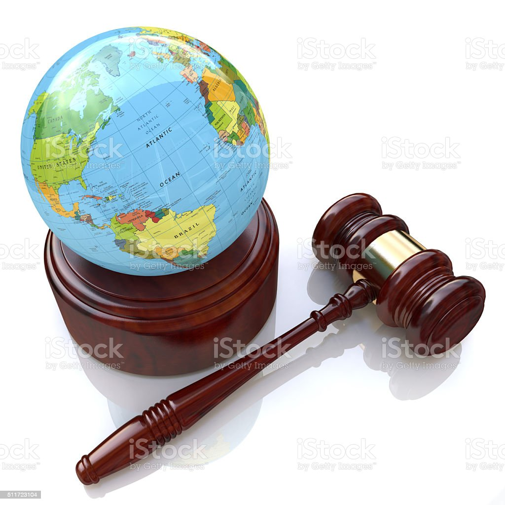 global justice law stock photo
