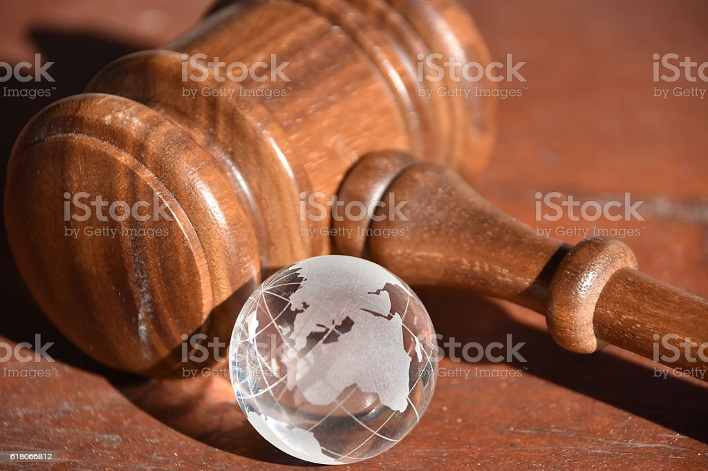 Global justice stock photo