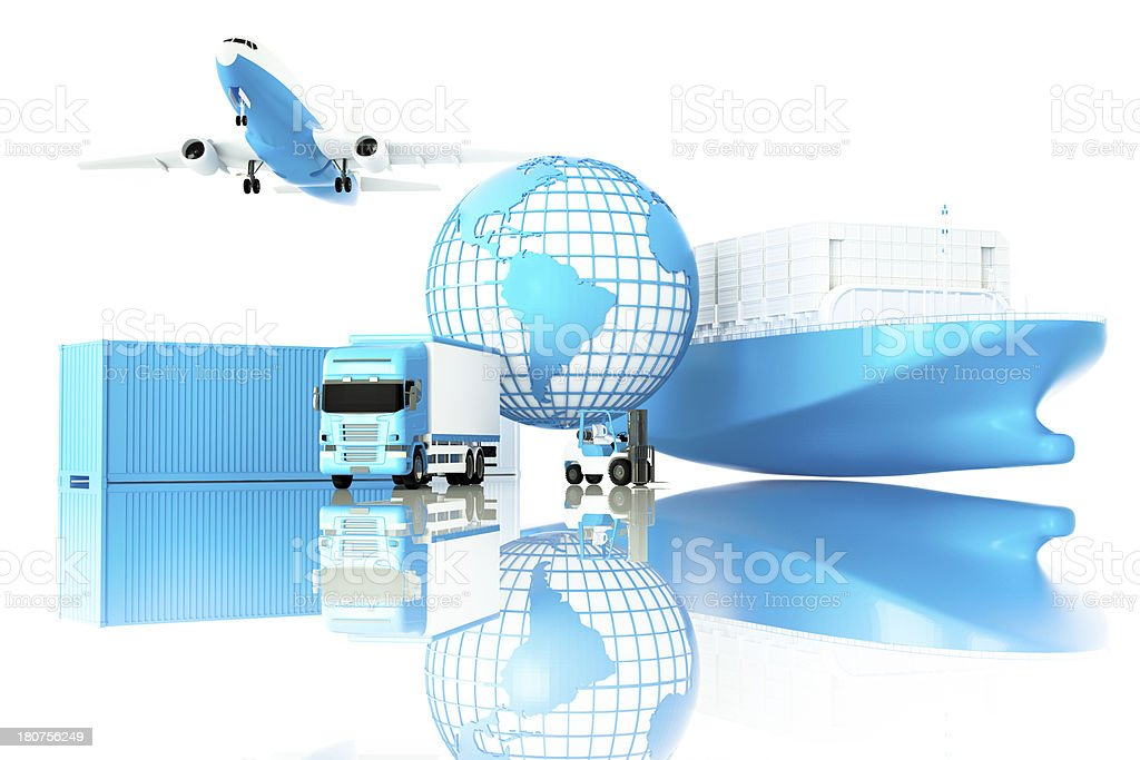 Global logistics stock photo