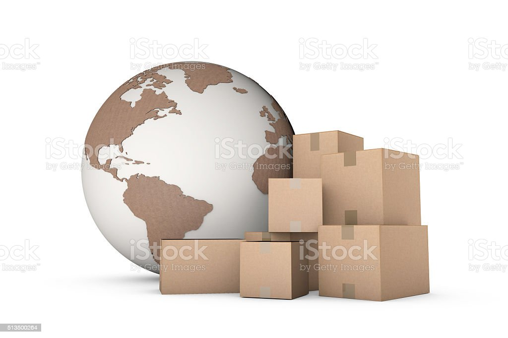 Global logistics shipping concept stock photo
