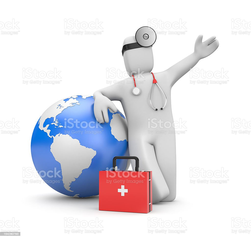 Global medical services royalty-free stock photo