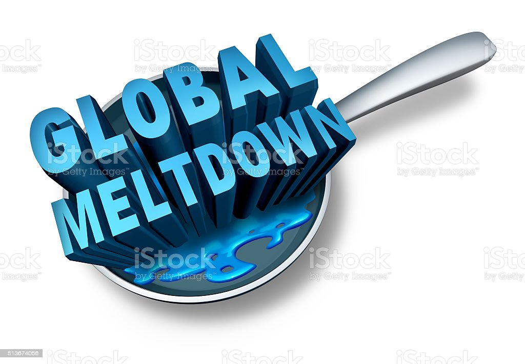 Global Meltdown stock photo