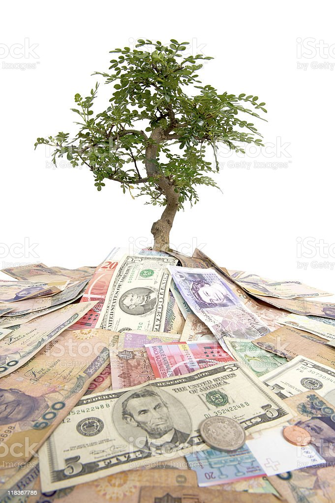Global Money Growth royalty-free stock photo