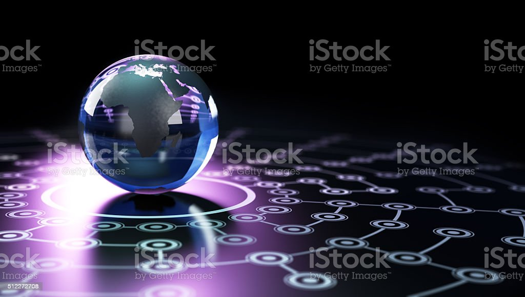 Global Network Background stock photo