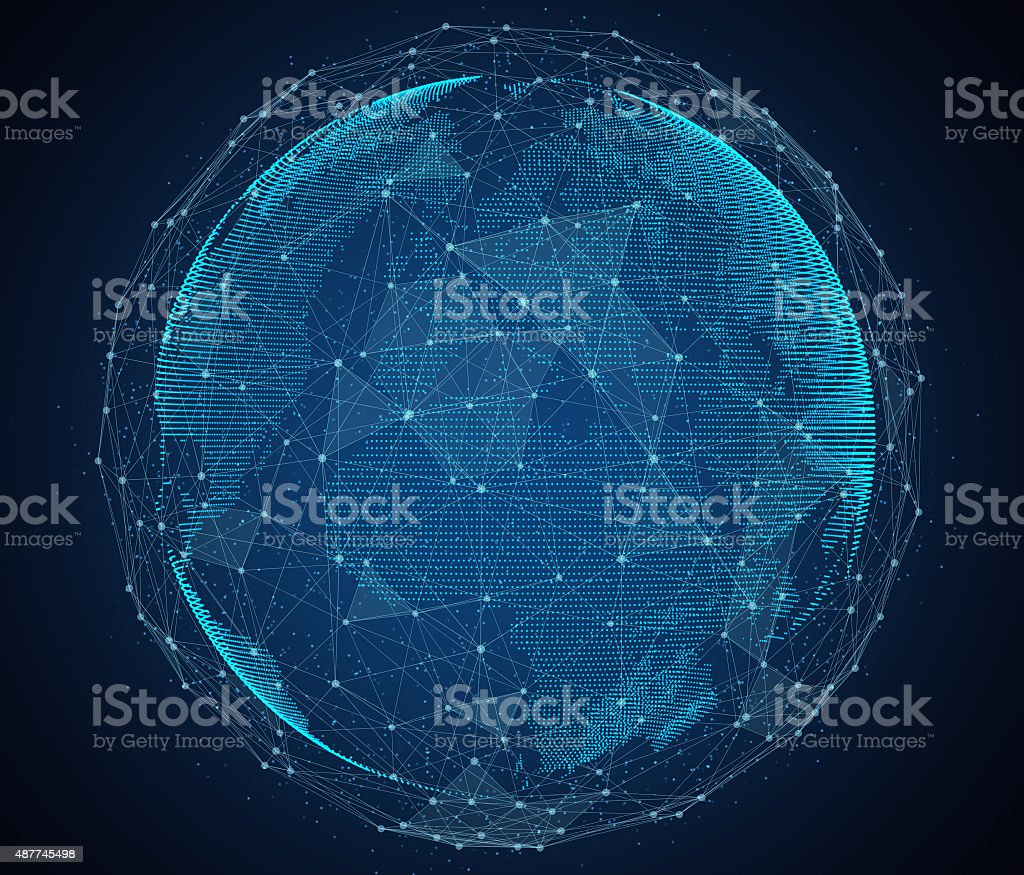 Global network of internet stock photo