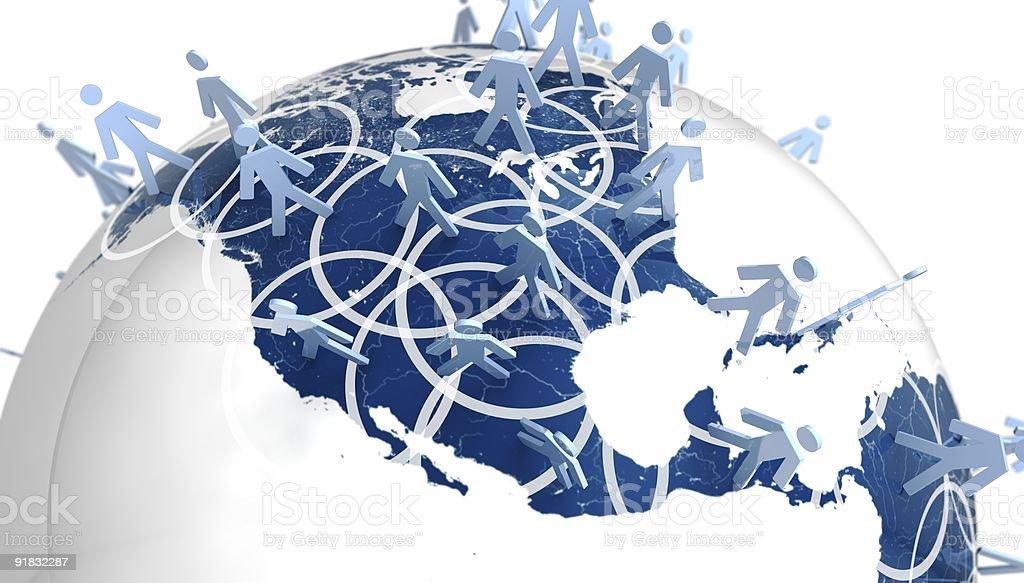Rede Global pessoas EUA foto royalty-free