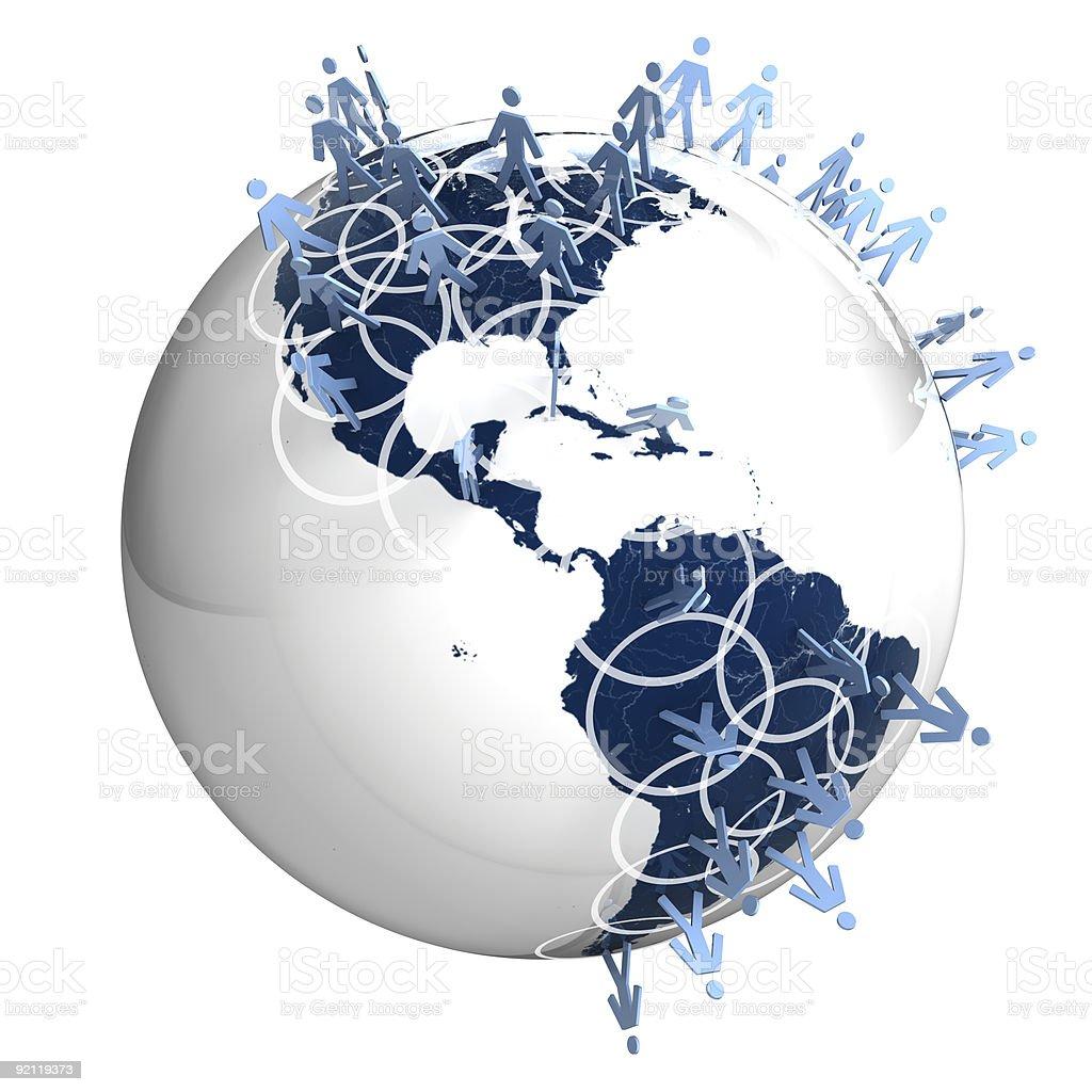 Ampla rede Global pessoas foto royalty-free