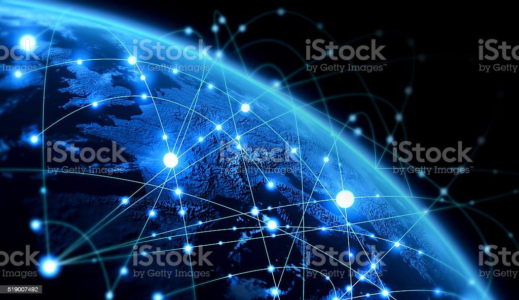 Global network stock photo