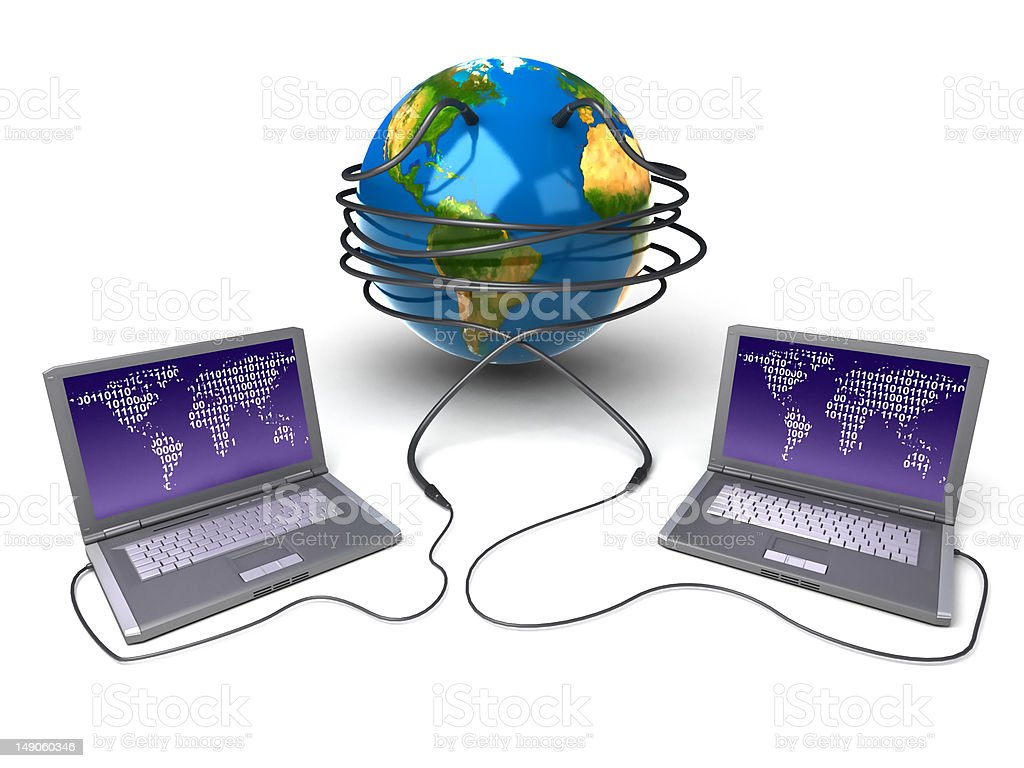 Global network the Internet royalty-free stock photo