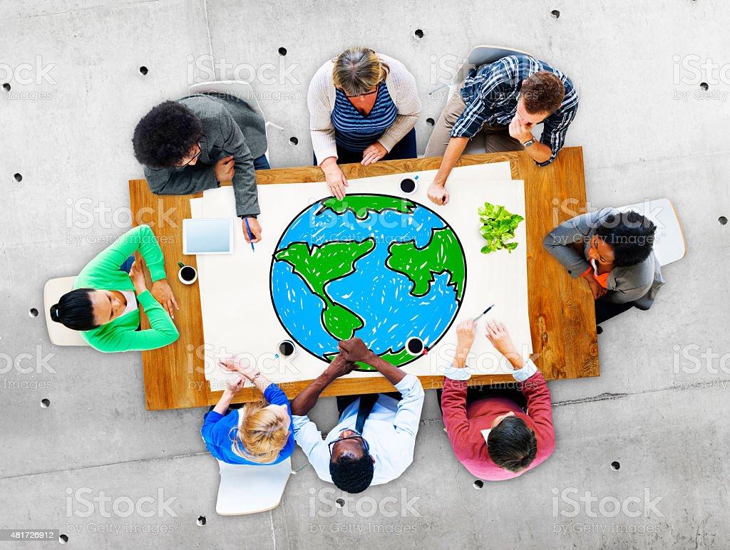 Global Networking Communication Economy Worldwide Concept stock photo