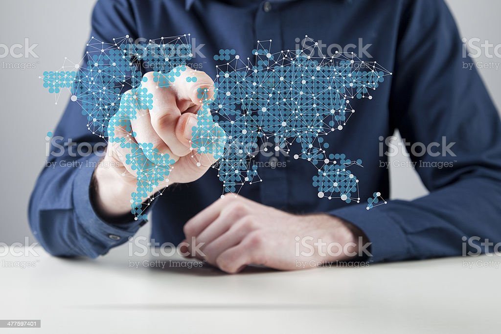 Global networking royalty-free stock photo