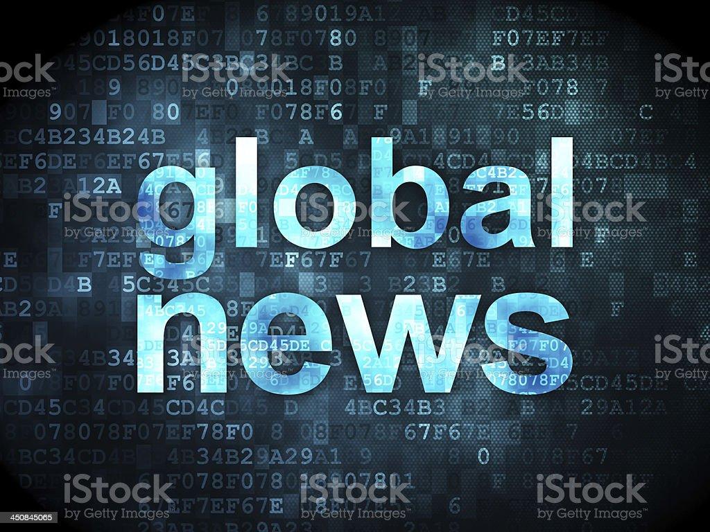Global News on digital background royalty-free stock photo