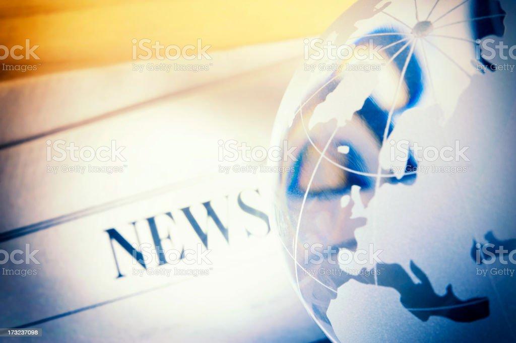 Global news stock photo