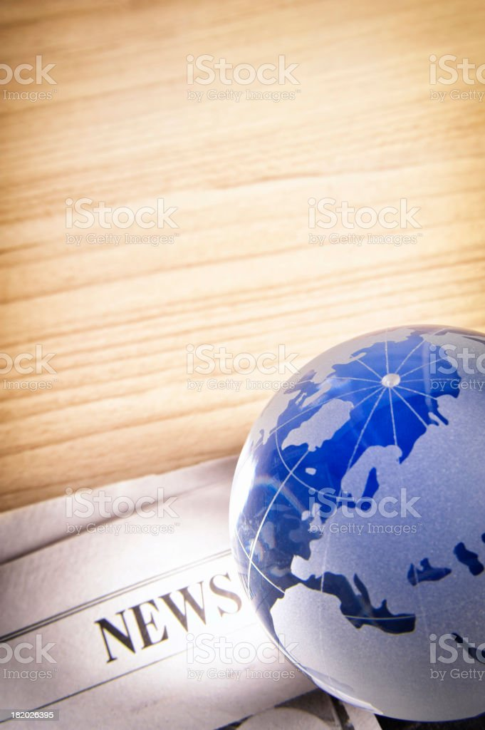 Global news royalty-free stock photo