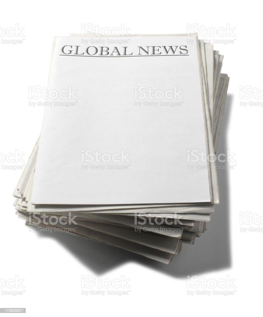 Global Newspaper Headlines royalty-free stock photo