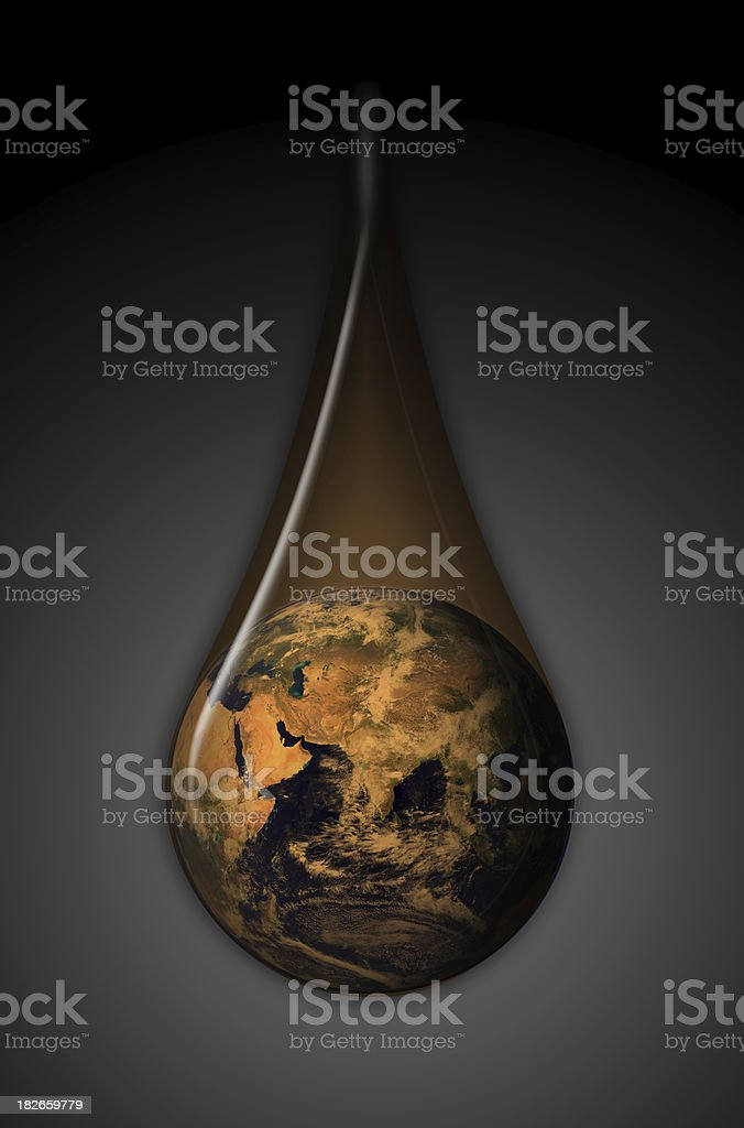 Global Oil East royalty-free stock photo