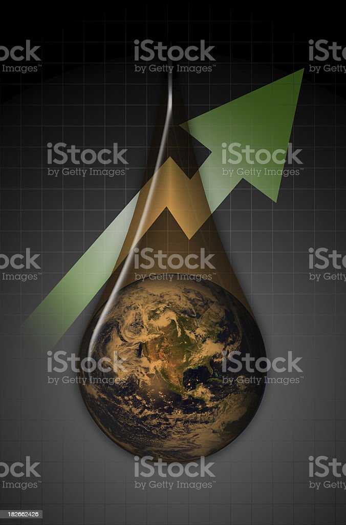 Global Oil Profits West royalty-free stock photo