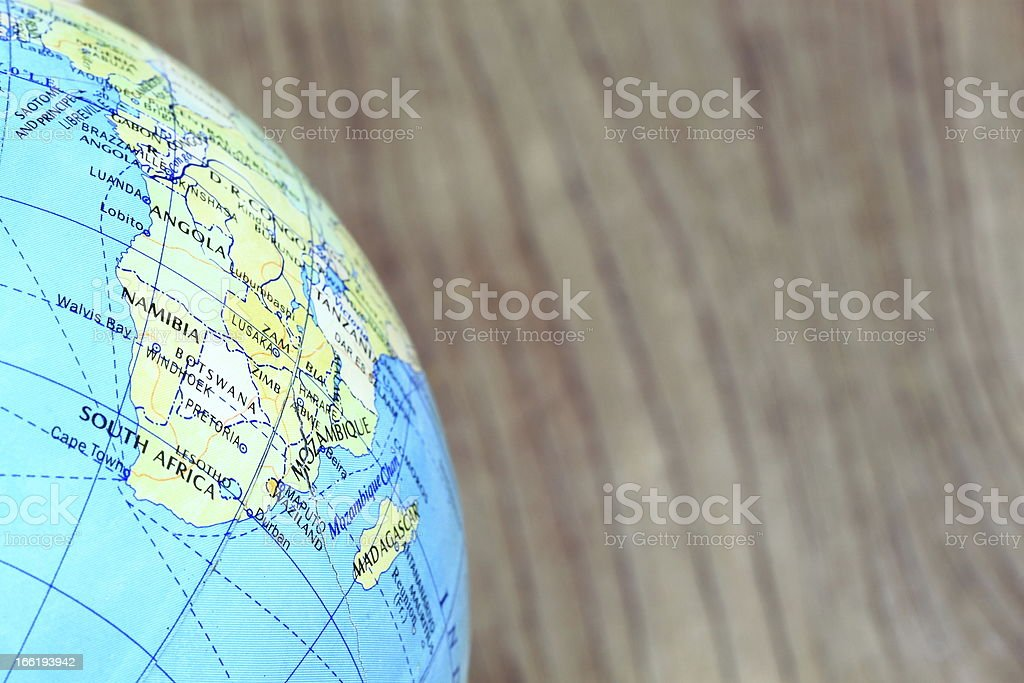 Global on wood royalty-free stock photo