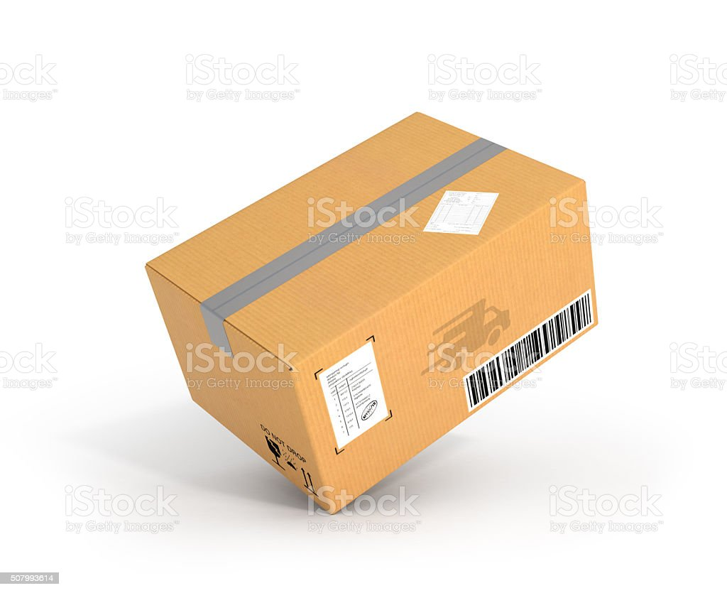 Global packages delivery and parcels transportation concept, stock photo