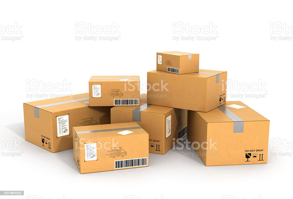 Global packages delivery stock photo
