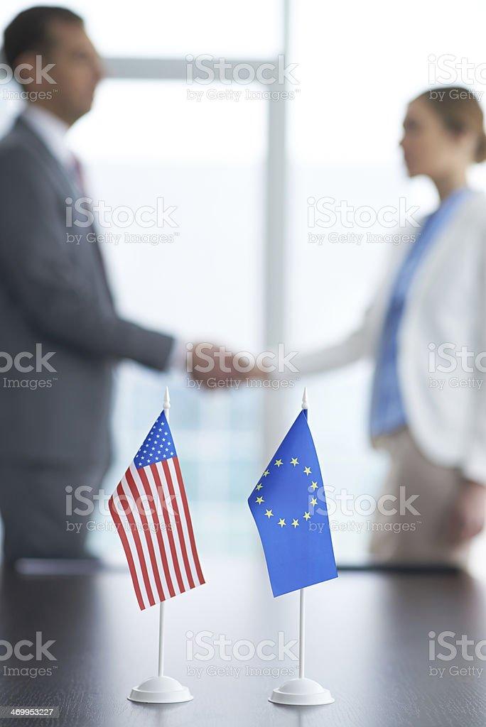 Global partnership stock photo