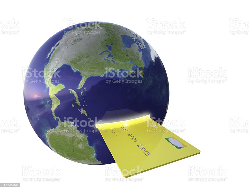 Global Payment - Lit Slot royalty-free stock photo