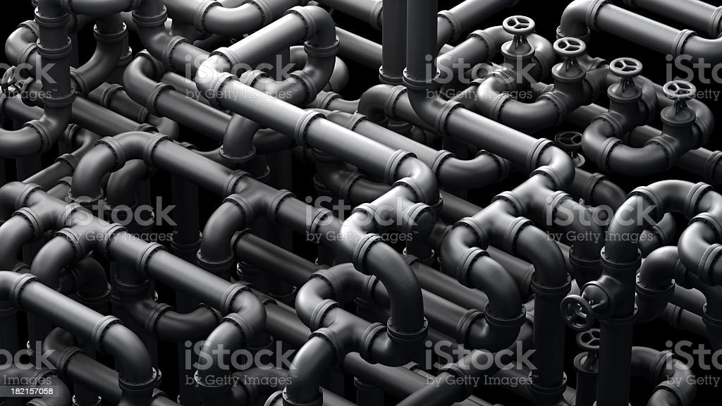 Global Pipeline royalty-free stock photo